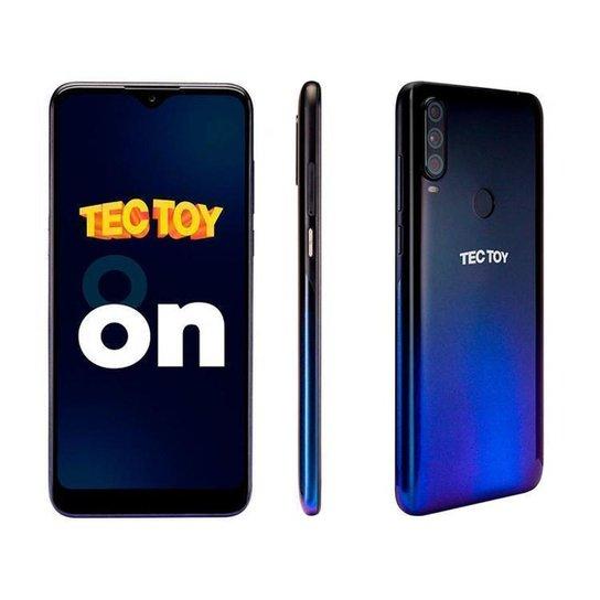 Smartphone TecToy On 128GB   4GB RAM Tela 6,22 - Azul