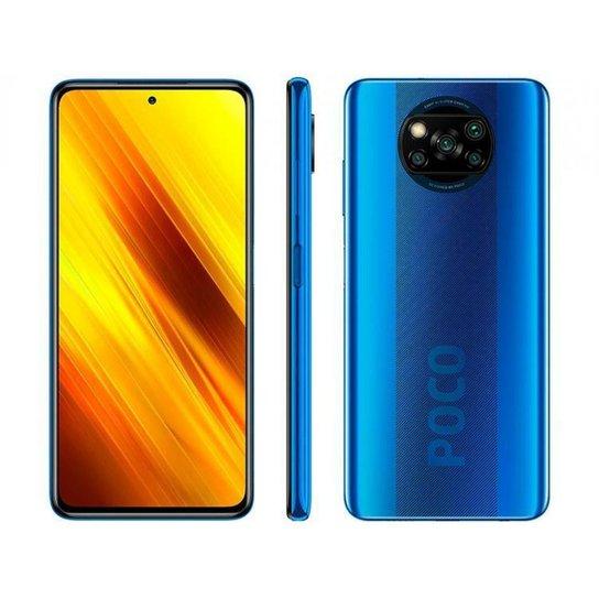 Smartphone Xiaomi Poco X3 NFC 64GB Cinza Octa-Core - Azul
