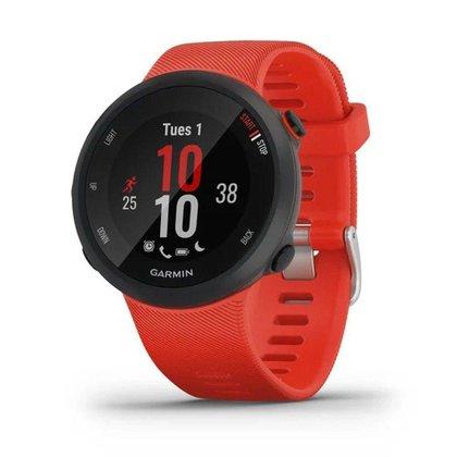Smartwatch e Monitor Cardíaco de pulso com GPS Garmin FORERUNNER 45 - Vermelho
