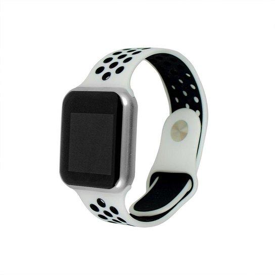 Smartwatch FitGear Skill Pro - Branco+prata