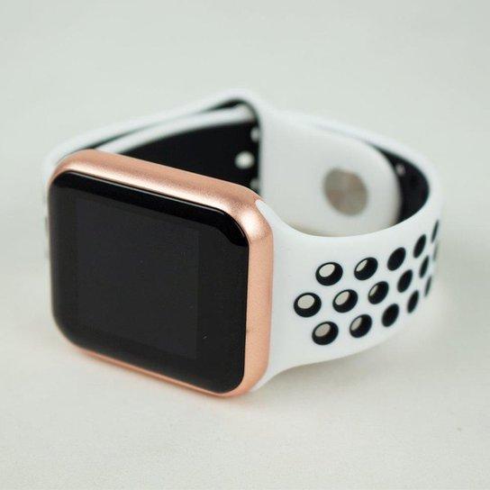Smartwatch FitGear Skill Pro - Branco+Rosa