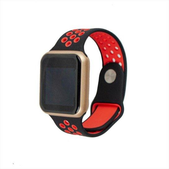 Smartwatch FitGear Skill Pro - Vermelho+Dourado