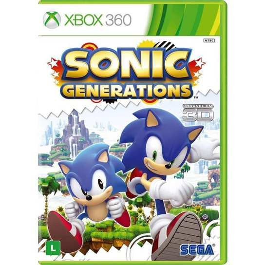 Sonic Generations - Platinum Hits - Xbox 360 - Incolor