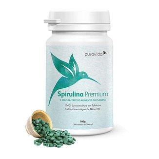 Spirulina - 200 Tabletes - Pura Vida