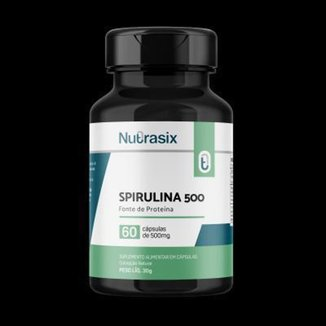 Spirulina 500 - 60 cápsulas - Nutrasix