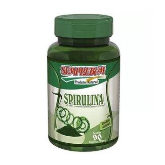 SPIRULINA 90 Capsulas De 500mg - Semprebom