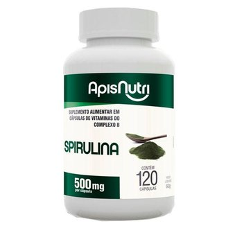 Spirulina Espirulina 500mg Apisnutri 120 comprimidos