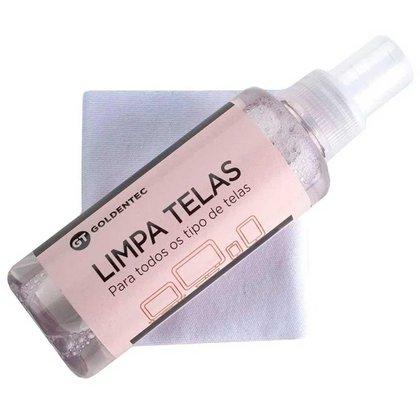 Spray Limpa Tela Goldentec - 30ml - com Flanela - para Limpeza de Notebook, TVs e Monitores - 43856