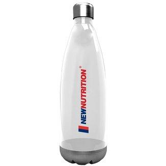Squezze Plástica com Inox - 700ml Transparente - NewNutrition