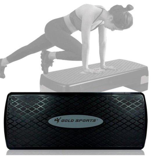 Step Gold Sports Academia Exercicios Pro Ajustavel - Preto