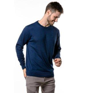 Suéter de Tricô Basic Loma Negra Marinho