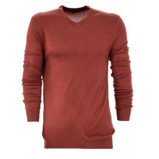 Suéter  Tricot Lã Liso Básico Gola V Casual Masculina