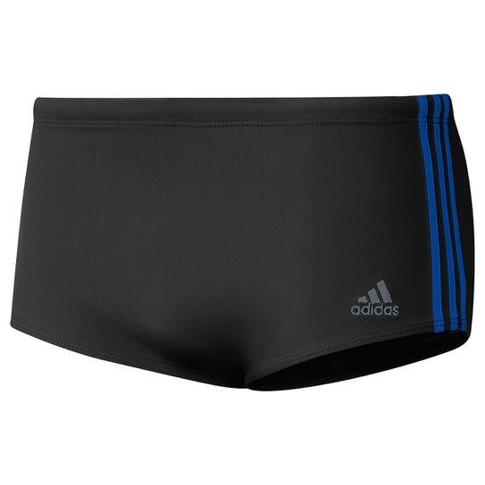 Sunga Adidas ColorBlock Wide - Preto+Azul