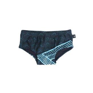 Sunga Basic Infantil Estampada - Azul Escuro - GG