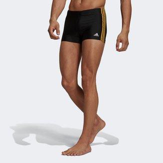 Sunga Boxer Adidas Fit 3 Listras
