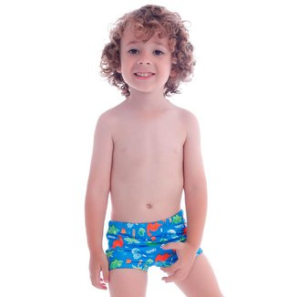 Sunga Boxer Infantil Baby Dino - Cecí