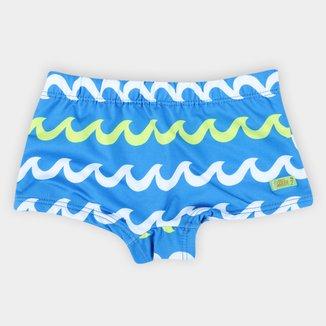 Sunga Boxer Infantil Boca Grande Estampada C/ Proteção UV 50+