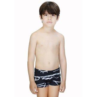 Sunga Boxer Infantil Danilo Quadro Negro 2 anos
