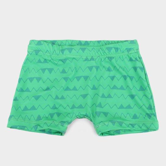Sunga Boxer Infantil Tip Top Estampada - Verde
