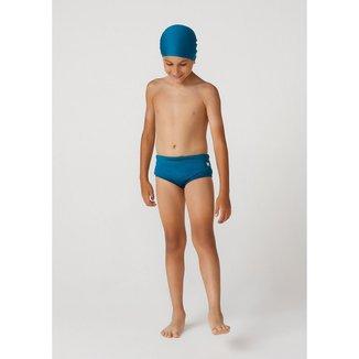 Sunga Com Touca Masculino Com Proteção Solar Em Tecido Com Elastano Cavada