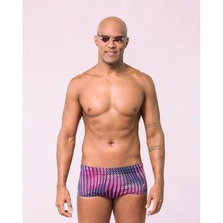 Sunga de natação Fabiola Molina lateral larga com compressão balance M