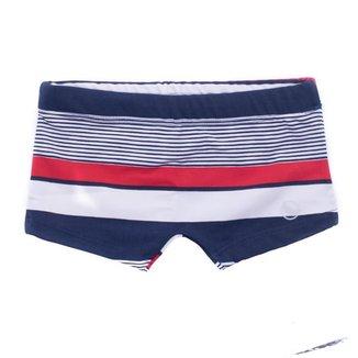 Sunga Infantil Menino Boxer Navy Verão Praia Confortável