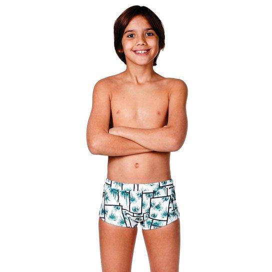 Sunga infantil modelo boxer GG - Branco