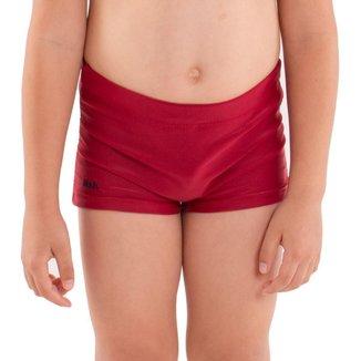 Sunga infantil para meninos modelo boxer lisa Mash .