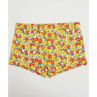 Sunga Juvenil Estampa Bart Simpsons Tam 10 A 16 - 10045671098