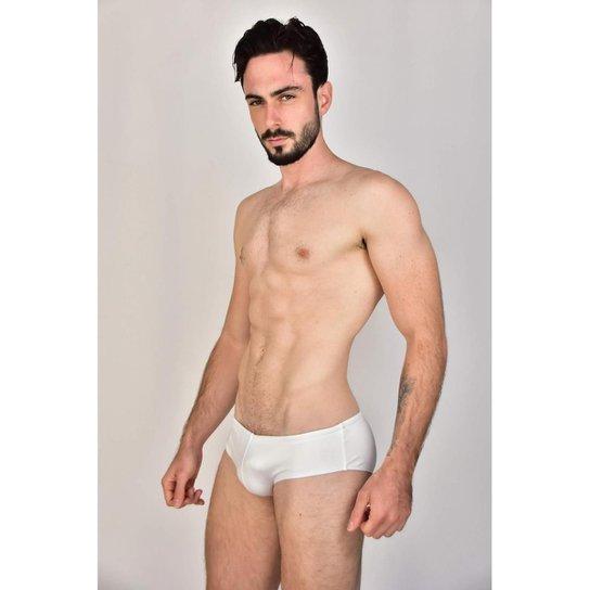 Sunga Low Rise Trunk Branco Silk Gel Símbolo Garda Uomo - Branco
