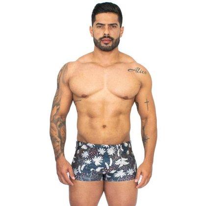 Sunga Masculina Boxer Amarração Confortável Verão Piscina