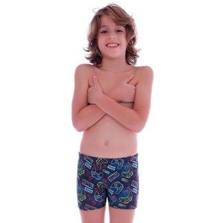 Sunga Short Infantil Game Bonus - Cecí