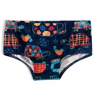Sunga Shorts Praia Infantil Tartaruga Marinho Tip Top - Tamanho 2