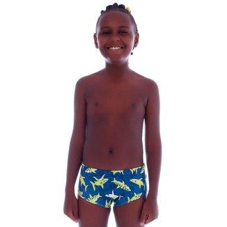 Sunga Slim Infantil Shark - Cecí