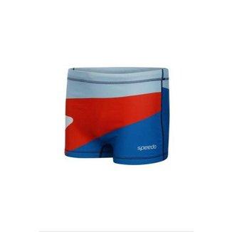 Sunga Speedo 019695 Boxer Boomerang Azul Claro - GG