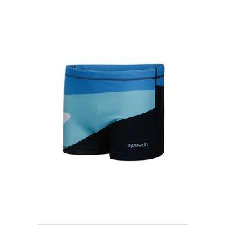 Sunga Speedo 019695 Boxer Boomerang Azul - G