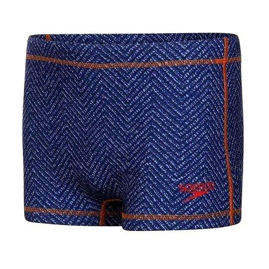 Sunga Speedo Boxer Denim Azul Marinho Masculino - Azul Escuro