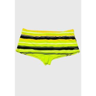 Sunga Sungão Radical Wave Listrada Claro com Amarelo Masculina