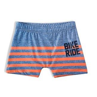 Sunga Tip Top  Bike Ride Listrado Azul E Laranja
