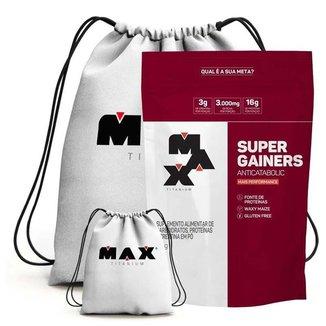 Super Gainers Refil 3Kg + Mochila - Max Titanium (Baunilha)