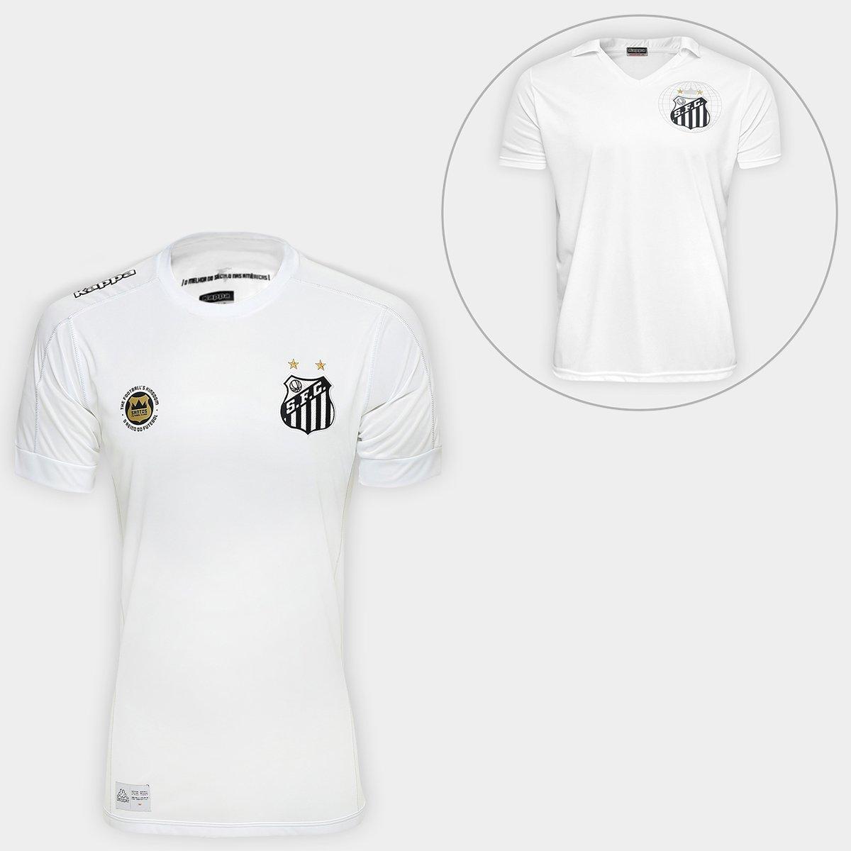 79b3d838a22d3 Super Kit Santos - Camisa Santos I 17 18 s nº Torcedor Kappa + Camisa Santos  2010 s nº Masculina - Compre Agora