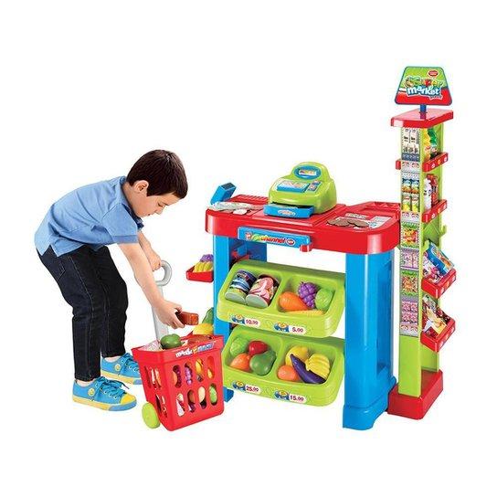 Super Mercado Infantil Kit Carrinho De Compras Bel Brink - Colorido