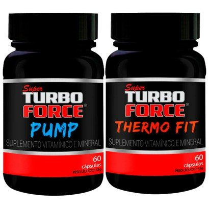 Super Turbo Force Pump 60 Cápsulas + Super Turbo Force Thermo Fit 60 Cápsulas – intlab