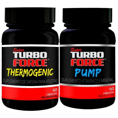 Super Turbo Force Pump 60 Cápsulas + Super Turbo Force Thermogenic 60 Cápsulas – intlab