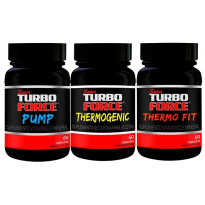 Super Turbo Force: Pump 60 Cápsulas + Thermogenic 60 Cápsulas + Thermo Fit 60 Cápsulas  – intlab