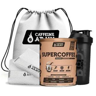 SUPERCOFFEE 240G + KIT ACADEMIA BRANCO (VANILLA LATTE)