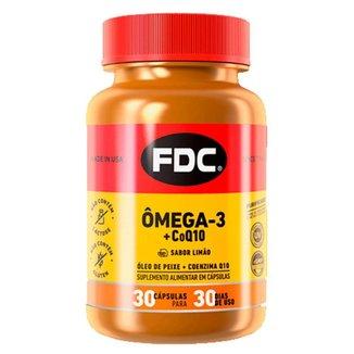 Suplemento Alimentar em Comprimidos FDC - Ômega 3 + Coenzima Q10 30 Caps