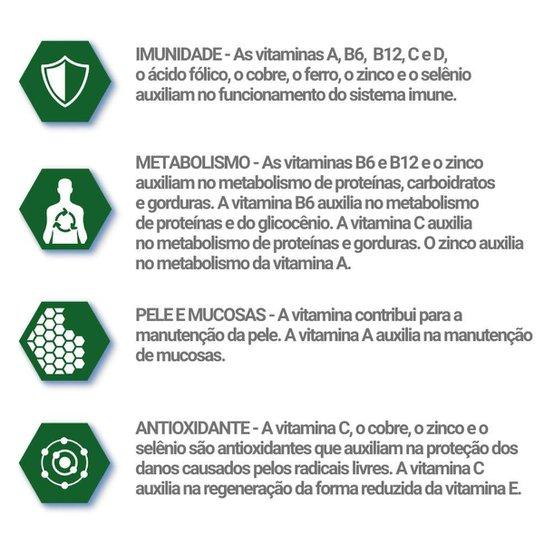 Suplemento Imunidade 3 un de 60 cápsulas Catarinense - Verde+Branco