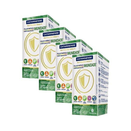 Suplemento Imunidade 4 un de 60 cápsulas Catarinense - Verde+Branco