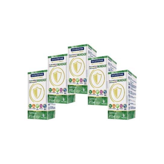 Suplemento Imunidade 5 un com 60 cápsulas Catarinense - Verde+Branco
